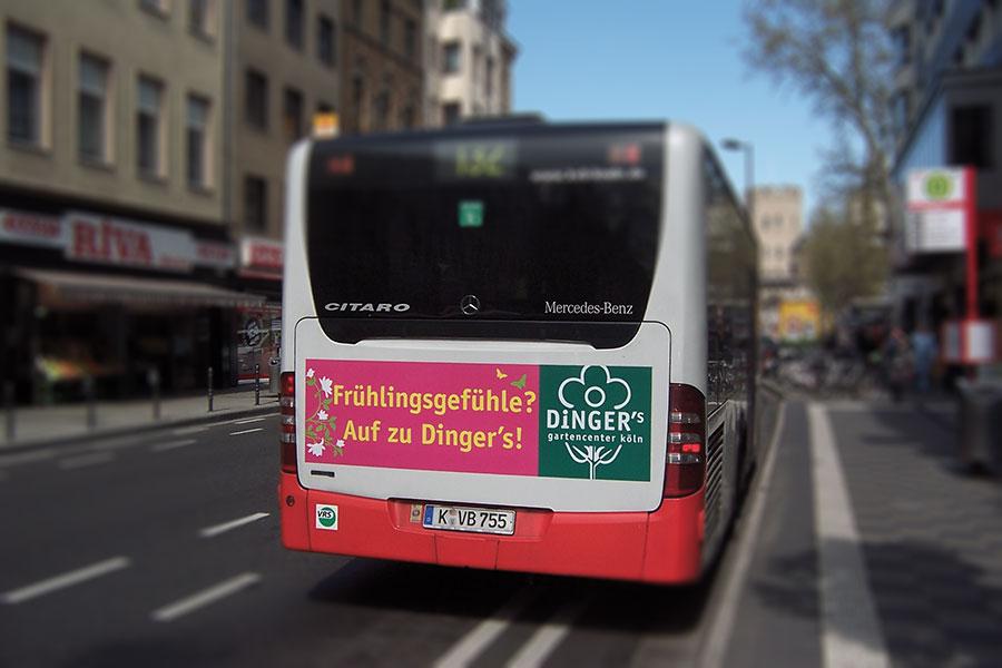 Dinger's Gartencenter Köln | Verkehrsmittelwerbung