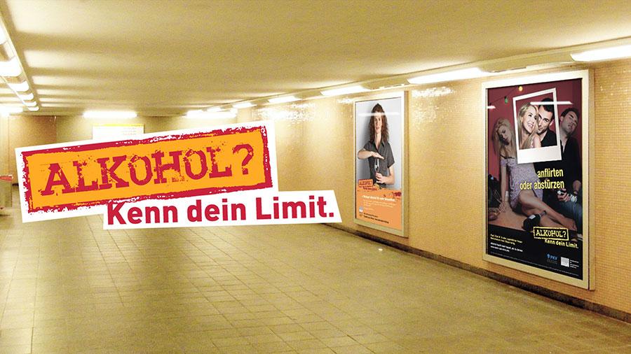 BZgA | Alkohol? Kenn dein Limit.  Claim